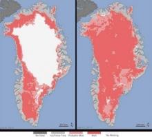 อึ้ง! น้ำแข็งบนเกาะกรีนแลนด์ละลายเกือบหมดในเวลา 4 วัน