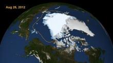 น้ำแข็งมหาสมุทรอาร์คติคละลายแตะระดับต่ำสุดรอบ 33 ปี