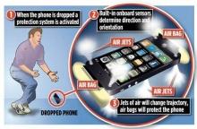 ถุงลมนิรภัยสำหรับสมาร์ทโฟนตกไม่พัง