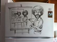 ง่ายๆทำได้เอง ศิลปะบนตู้เย็น