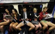 ท้าหนาว ฉลองปรากฎการณ์แห่นุ่งสั้น บนรถไฟใต้ดิน