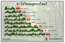 พื้นที่ป่าในไทยอยู่ตรงไหน