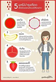 5 ผลไม้ บำรุงเลือด