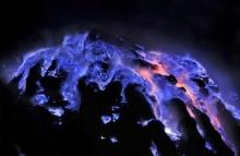 ภูเขาไฟอินโดนีเซีย พ่นลาวาสีฟ้าสวย