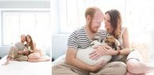 น่ารักอะ! คู่สามีภรรยาถ่ายรูปครอบครัวกับหมาน้อย
