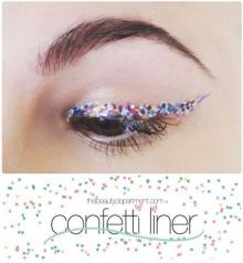 แต่งตาแซ่บแบบ Confetti Liner