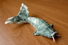 พับแบงค์ดอลลาร์เป็นรูปร่างต่างๆ