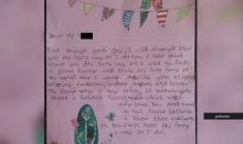 สุดซึ้ง! ลูกศิษย์วัย 9 ขวบ เขียนจม.ให้กำลังใจครูที่เป็นชายรักชาย