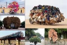 เวอร์ไป!! 10 ภาพยานพาหนะทั่วโลกที่บรรทุกของเกินพิกัด