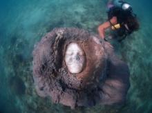 ประติมากรรมหน้าคน อันงดงามไว้ใต้ทะเลในไทย ถ้าใครว่ายมาเจอคงต้องหลอน!!