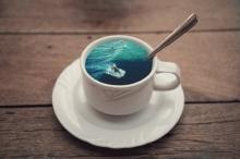 ศิลปะคับแก้ว Coffee Cup Manipulations มหาสมุทรในแก้วกาแฟ
