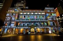 แสงสีแห่งนครซิดนีย์ ออสเตรเลีย ยามค่ำคืน ในเทศกาล Vivid Sydney