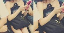 สาวนิรนาม เปลือยร่าง ขึ้นรถไฟใต้ดิน โดยมีเพียงกระเป๋าใบเดียวปิดบังร่างกาย