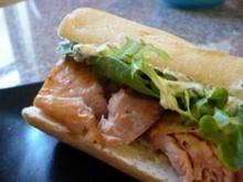 แซนด์วิช ปลาแซลมอนรมควัน