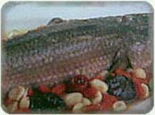 เมนูปลาช่่อนนึ่งสมุนไพร