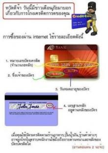 เตือนภัย : บัตรเครดิตกับการซื้อของผ่าน Internet