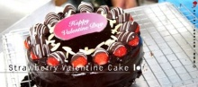 Strawberry Valentine Cake