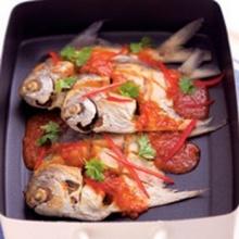 ปลาทอดซอสสามรส