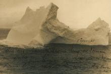 เผยภาพภูเขาน้ำแข็งที่จมไททานิค