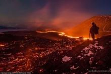 ของจริง! เปิดภาพหาชมยากสุดงามแม่น้ำแห่งเพลิงเหยื่อปะทุของลาวาภูเขาไฟ(