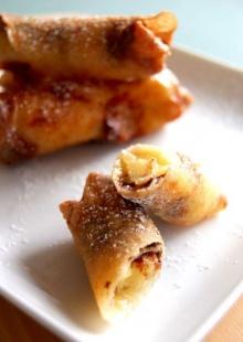 ปอเปี๊ยะไส้กล้วยและช็อคโกแลต แสนอร่อย