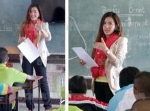 ครูเหมียว คุณครูคนสวยแห่งโรงเรียนบ้านหนองแวง