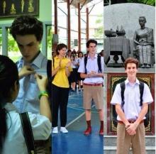 น่ารัก ใสกิ๊ก.... ฝรั่ง หนุ่มน้อย ในชุดนักเรียนไทย