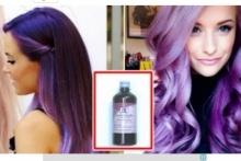 """สาวมั่นต้องลอง!! เผยวิธีทำ ผมสีม่วง ทำได้ง่ายๆด้วย """"ยาม่วง"""" งบเพียง 15 บาท!!"""