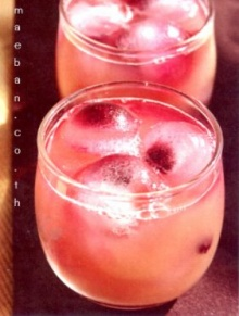 Punch with Blueberry Ice