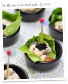 Shrimp Cocktail with Caviar