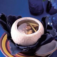 ซุปเห็ดในมะพร้าวเผา
