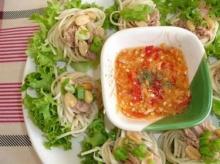 เมี่ยงทูน่าขนมจีน