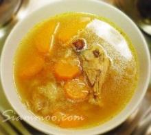 ซุปน่องไก่ใส่แครอท