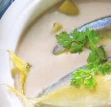 ต้มกะทิสายบัวกับปลาทู