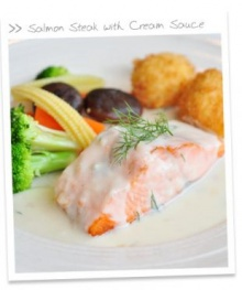 Salmon Steak White Cream Sauce