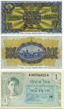 ธนบัตร รุ่นต่างๆ ในประเทศไทย