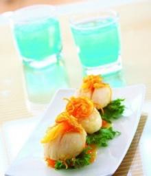 หอยเชลล์ซอสส้ม