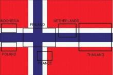 มหัศจรรย์!!! พบธงชาติ 6 ประเทศ ซ่อนอยู่ใน ธงชาตินอร์เวย์ รวมทั้ง ไตรรงค์ ของไทย
