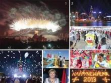 ทั่วโลกฉลองปีใหม่ ดอกไม้ไฟ-คำอธิษฐาน 2013
