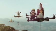 บะหมี่นิสชิน กับการเสิร์ฟบะหมี่กึ่งสำเร็จรูปพร้อมเสิร์ฟด้วยหุ่นยนต์บังคับ Drone