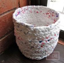 ทำถังขยะจาก ถุงพลาสติก สุดกิ๊บเก๋