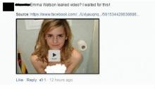 เตือนภัยออนไลน์! ไวรัสแนวใหม่ ชวนดูคลิปหลุดเอ็มม่า วัตสัน ทางเฟซบุ๊ค