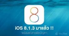 สาวกไอโฟนเฮ iOS8.1.3 มาแล้ว! เพิ่มความเสถียร พื้นที่ว่างแค่ 500MB ก็ลงได้