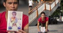 หัวอกคนเป็นพ่อ! หนุ่มจีนพิการคลานหาลูกชาย2ขวบหายตัวนานครึ่งปี
