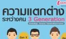 ความแตกต่างของคน 3 Gen