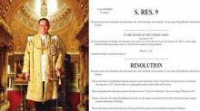 วุฒิสภาสหรัฐฯ ผ่านมติเทิดพระเกียรติและแสดงความรำลึก ในหลวง รัชกาลที่ 9