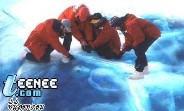ซากศพมนุษย์ต่างดาวในน้ำแข็งที่ขั้วโลก