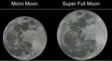 ชัดๆแบบเห็นภาพ จันทร์เต็มดวงแบบธรรมดา VS ซุปเปอร์ฟูลมูล