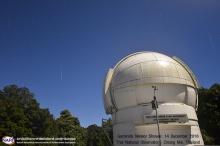 สดร. เผยภาพฝนดาวตกเจมินิดส์ที่หอดูดาวแห่งชาติในคืนจันทร์กระจ่างฟ้า