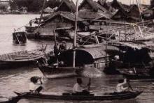 ภาพหาดูอยาก อุบัติเหตุเรือชนกันที่แยกคลองวัดสามจีน สมัย ร.5